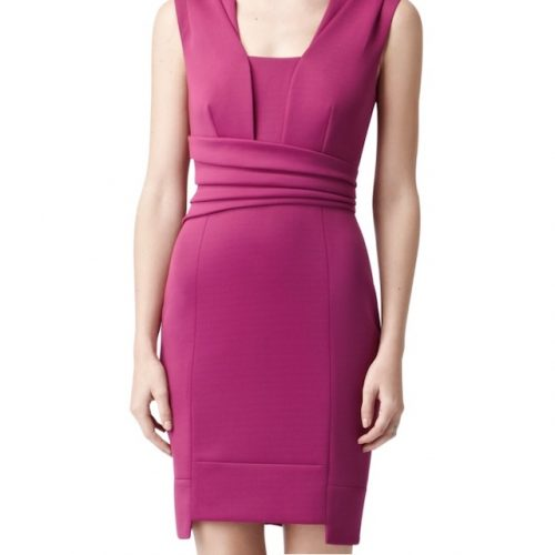 reiss-magenta-wrap-bodycon-dress-