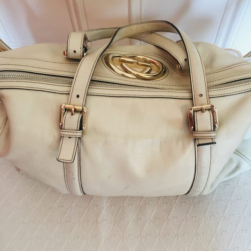 Gucci cream bag
