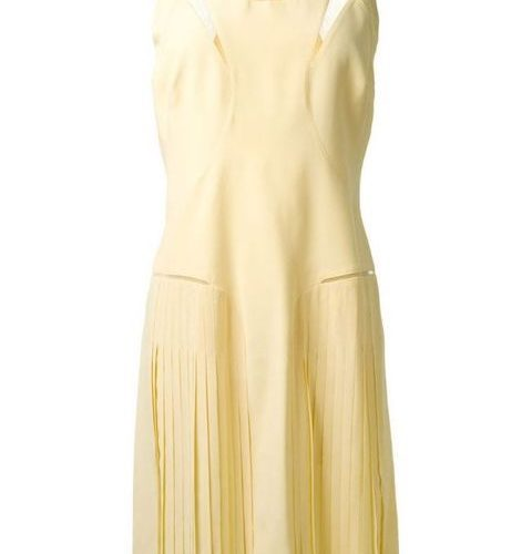 Victoria Victoria Beckham pale yellow dress