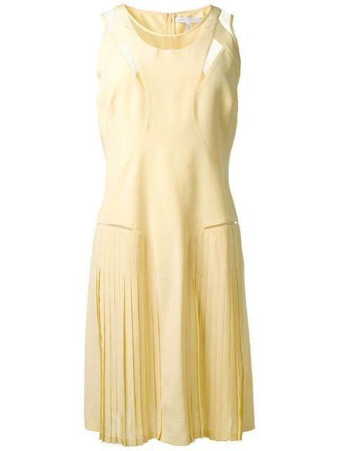 Victoria Victoria Beckham pale yellow dress