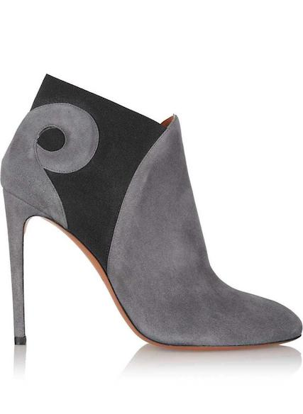 Alaia grey ankle boot
