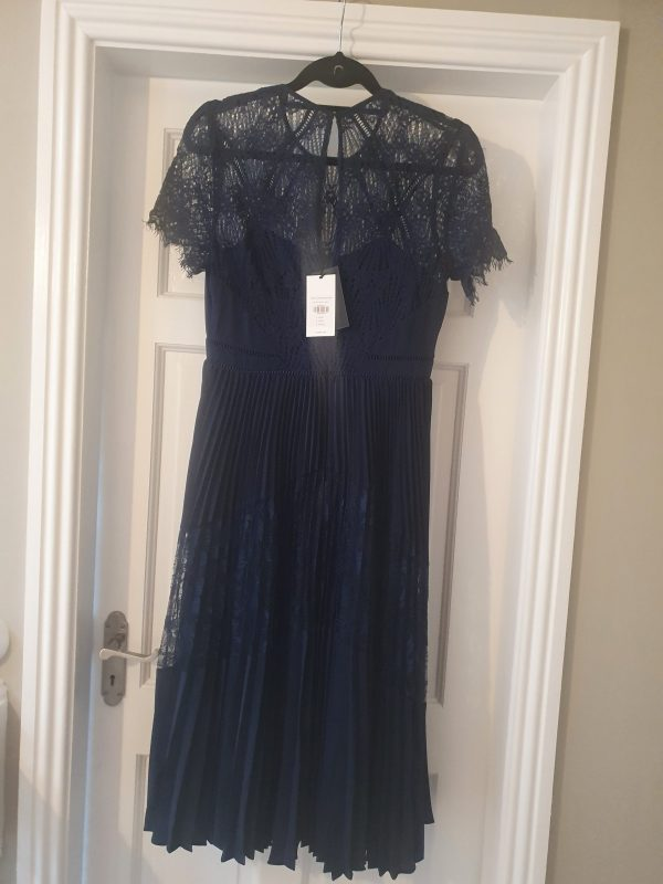 Whistles navy lace dress