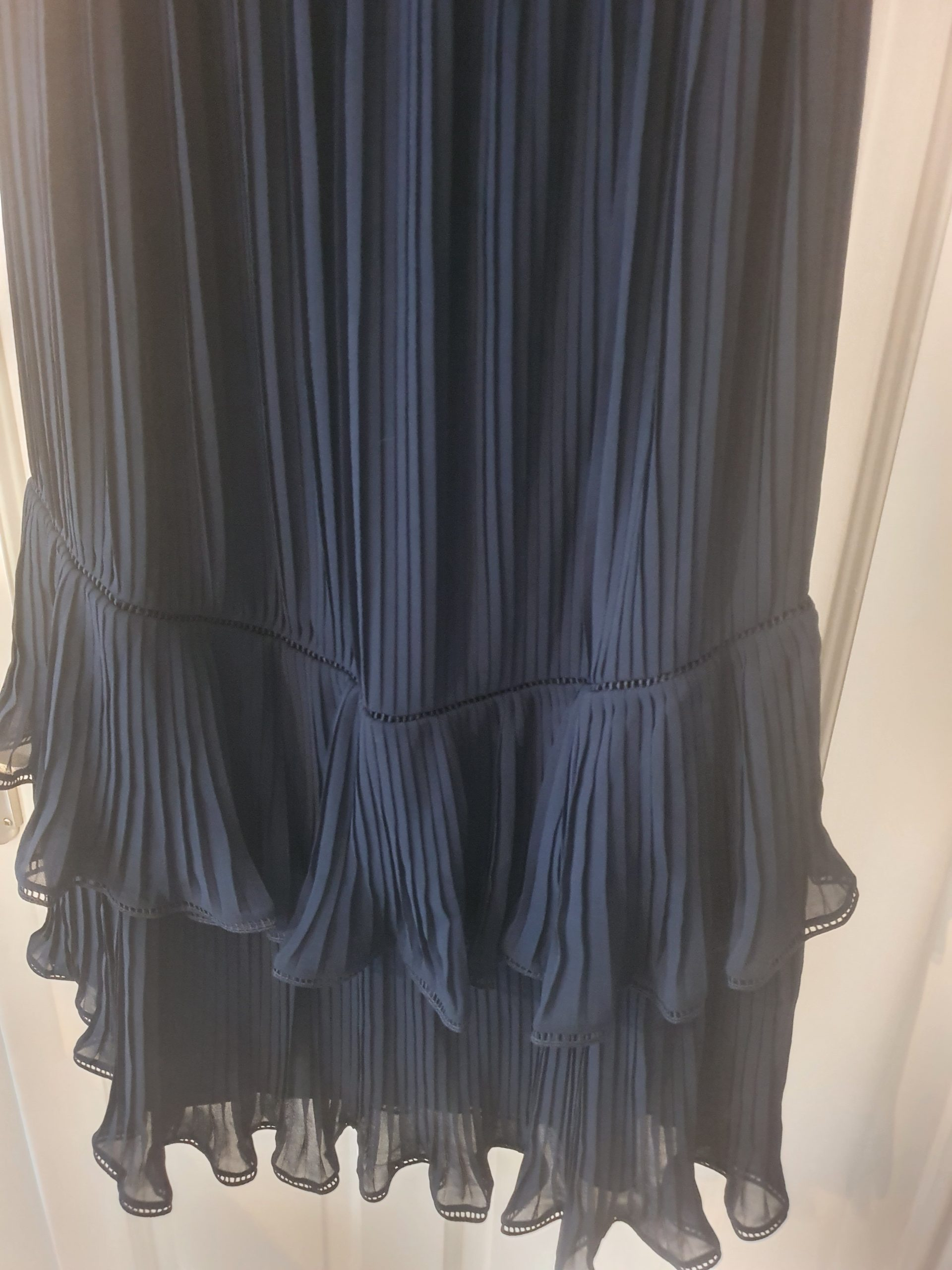 whistles pleated navy dress