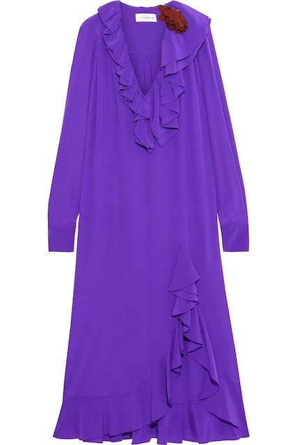 Victoria Beckham purple dress