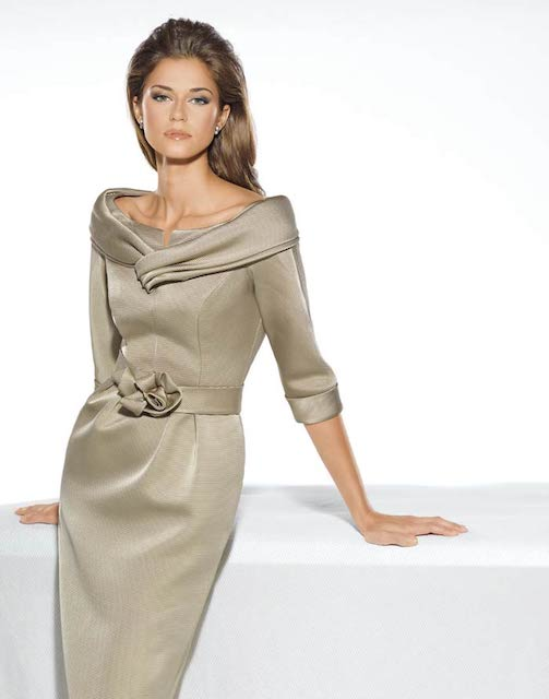 teresa ripoll beige dress mother of the bride