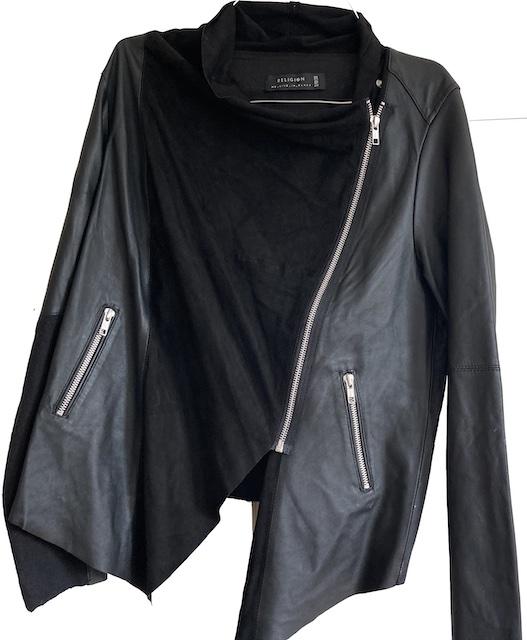 Religion leather jacket