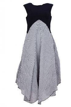 High check dress