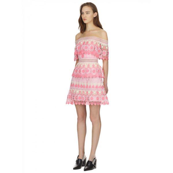 Self Portrait pink mini dress