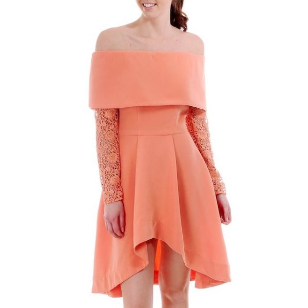 8th Sign Coral Dress