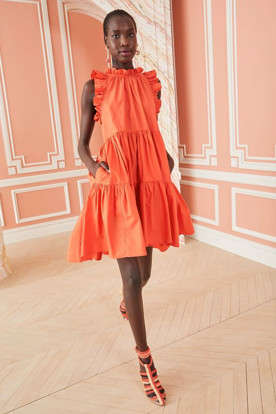 Ulla Johnson orange dress