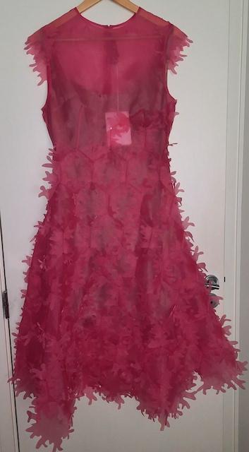Paskal pink appliqued dress