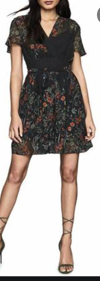 Reiss-Black-Floral-Dress