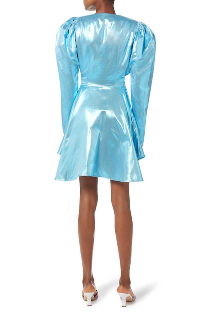 Rotate blue shimmer dress