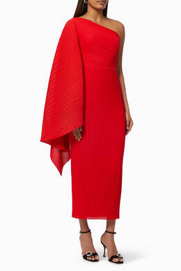 Solace London one shoulder red dress