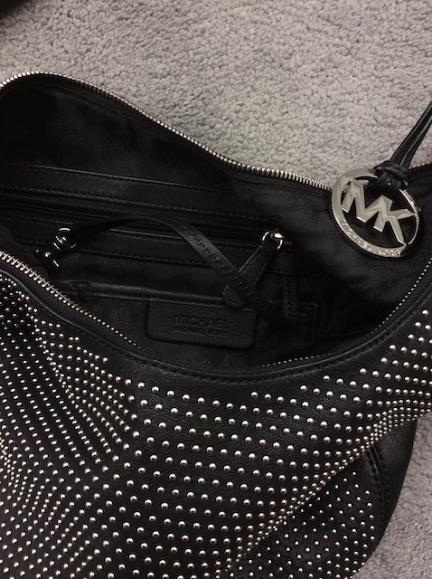 Michael Kors black stud bag