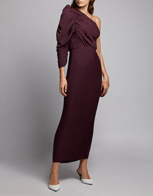 REnt Solace London Burgundy dress